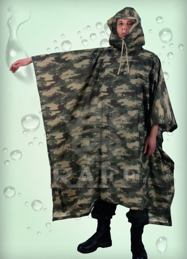 PONCHO IMPERMEABLE MILITAIRE CAMOUFLAGE 077
